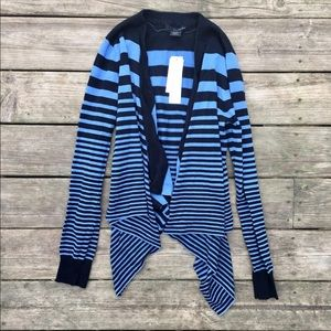 Stripe knit NET Calvin Klein sweater cardigan